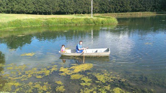Pinehaven Bed and Breakfast: Rowboat on the pond