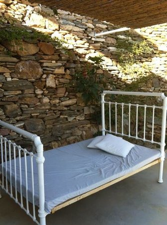 Kamaroti Suites Hotel: a bed on our terrasse