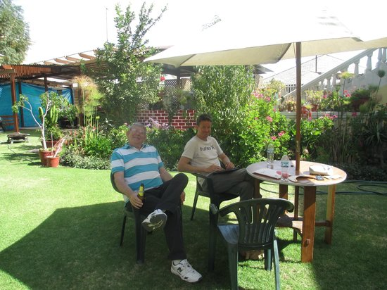 Casa de Avila - For Travellers : The garden is great place for a beer after a busy day
