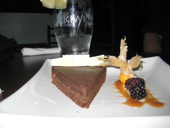 Kiwi: Not sure of the exact name, but has white and dark chocolate cheesecake