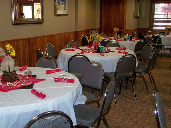 The Wedgewood Lodge provided all of the tables and chairs for our 80 guests.