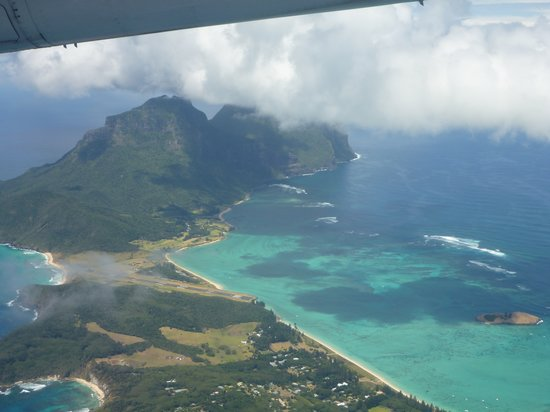 Lagoon Beach: from departing plane