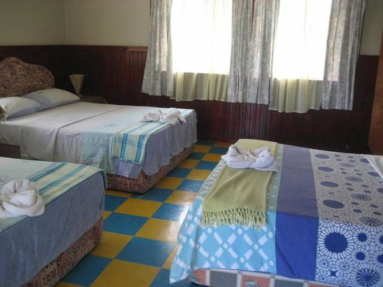 Alibaba Guest House: family room with 3 double beds