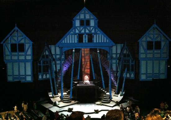 McCall House: Elizabethan Stage at night