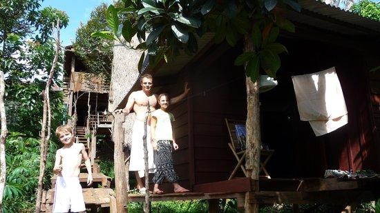 Tree Lodge: devant le bungalow