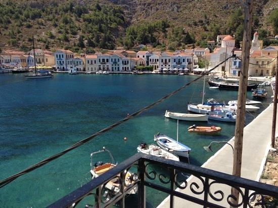 Hotel Kastellorizo: view from veranda
