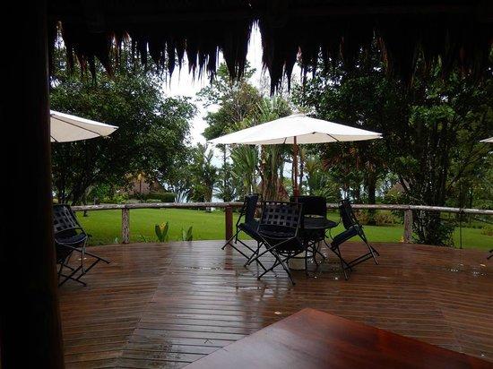 Bosque del Cabo Rainforest Lodge: Breakfast/dining area.