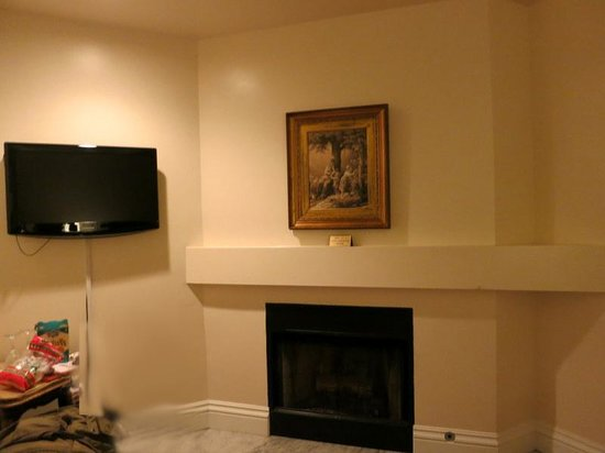 The Bergson : the fireplace also takes up space