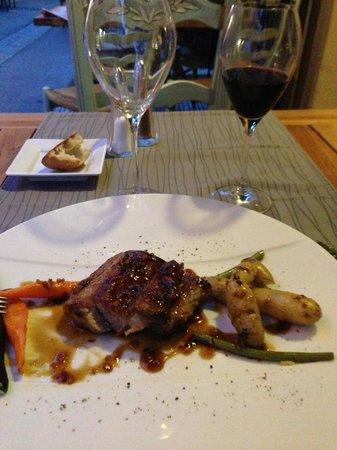 Restaurant la Salicorne : selle d'agneau au thym