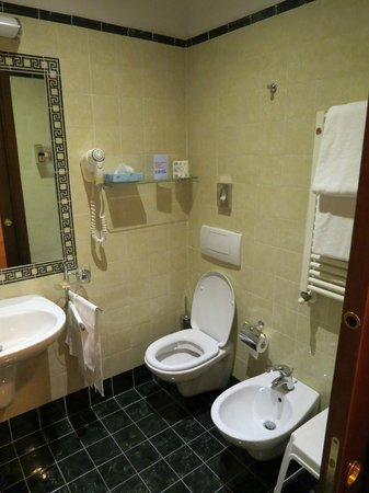 Hotel Caravaggio: Bathroom in the room #313