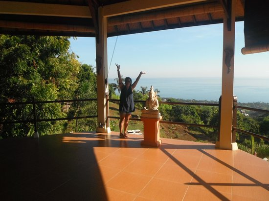 The Hamsa Resort: Yoga platform...awesome view