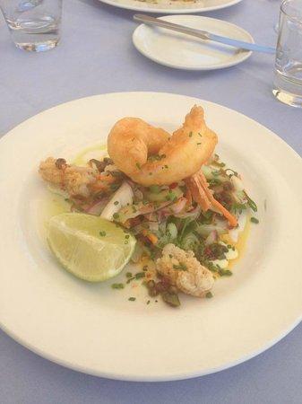 The Beach House Restaurant Marbella: Calamari Starter