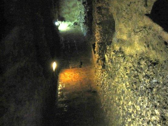 Pozzo Etrusco : la discesa