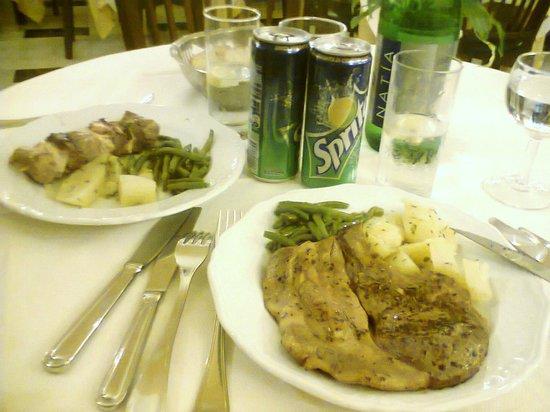 Hotel Central: carne con buonissimi patate e fagiolini