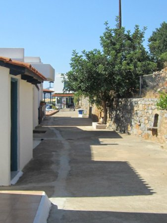 Kavos Bay Apartments : view from front door up towards pool