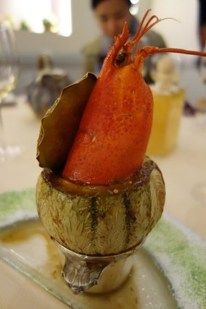 Restaurant Prevot: Lobster cooked in a whole melon