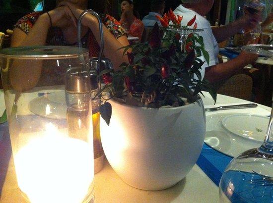 Classico: chilli plant table center piece