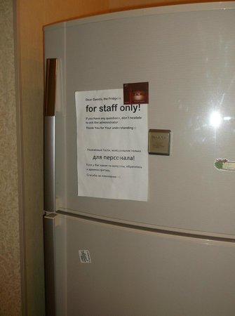 Elegiya: welcoming sign on fridge