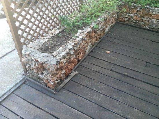Clos des Colombes: Terrace