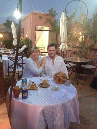 Riad Les Jardins Mandaline: Dinner on the roof terrace