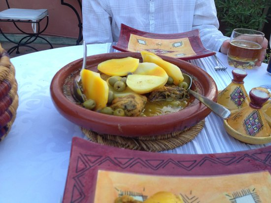 Riad Les Jardins Mandaline: Yummy chicken tajine
