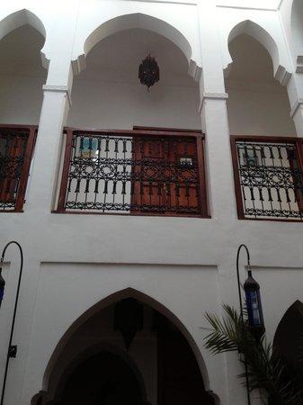 Riad Les Jardins Mandaline: Our room door from below