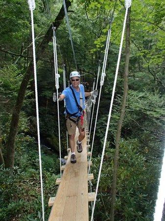 Sky Valley Zip Tours: Rope bridge crossing