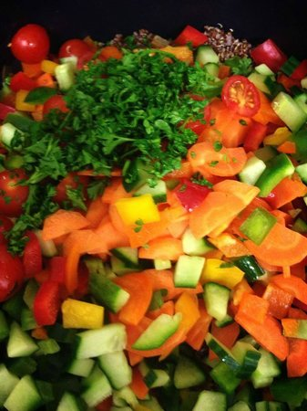 Moo: rainbow salad