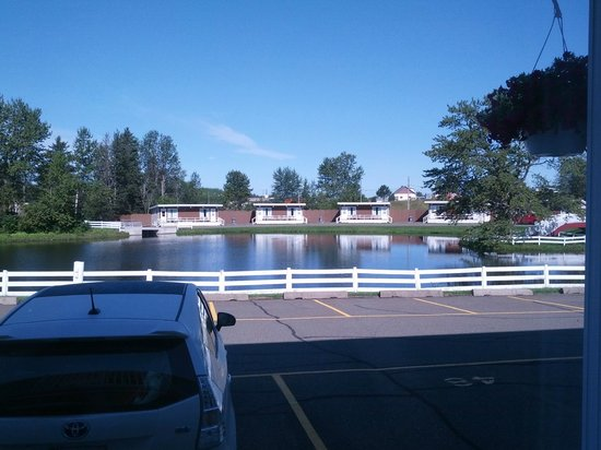 "Quality Inn: View of pond advertised as ""lake"""