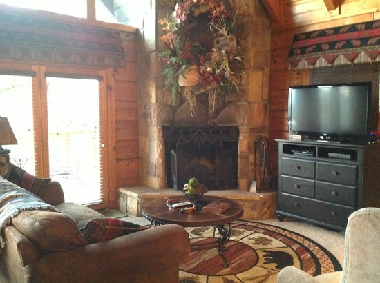 Timberwinds Log Cabins: Beautifully decorated living area