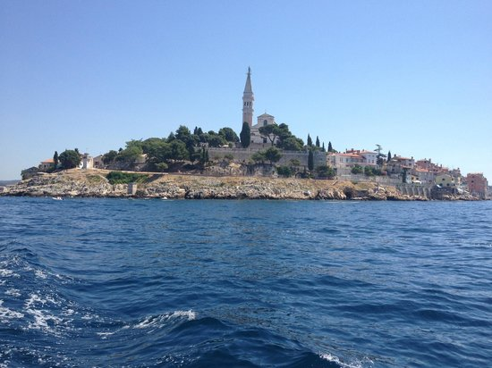Island Hotel Istra: Rovinj from the hourly ferry.
