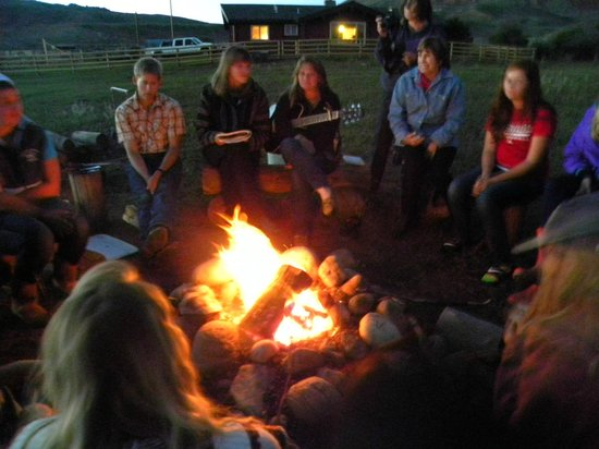 Laramie River Dude Ranch : Bon Fire