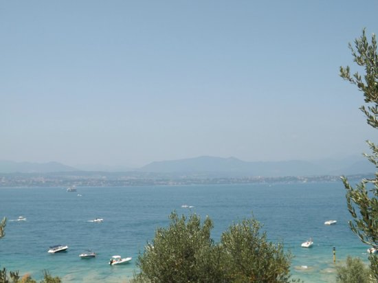 Hotel Desenzano: view from the roof terrace.