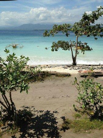 Strandabschnitt vor dem Hotel