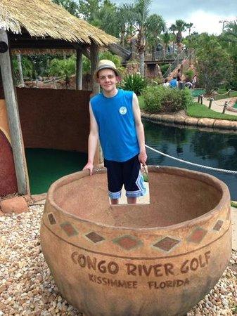 Congo River Golf: in a pot