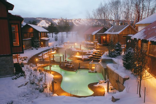 Winter At Scandinave Spa Picture Of Scandinave Spa At Blue Mountain Blue Mountains Tripadvisor