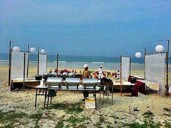 Angsana Bintan: Setup for dinner by the beach