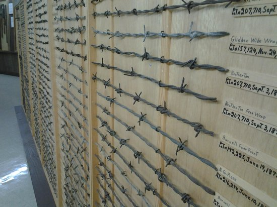 Barbed Wire Museum : Just one of the many panels of wire