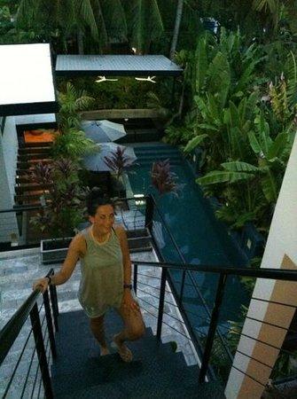 Kia Kaha Villa: the pool from top floor room