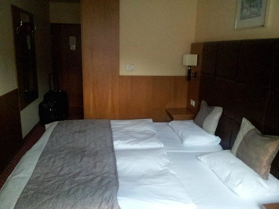 Carlton Hotel Budapest : not that spacious but still big enough (i was alone)
