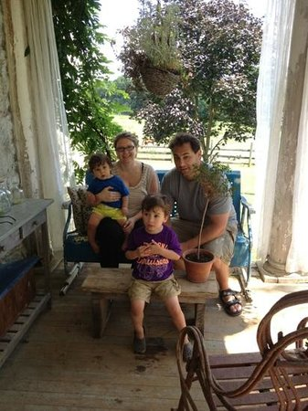 Oldestestone Farm: porch time