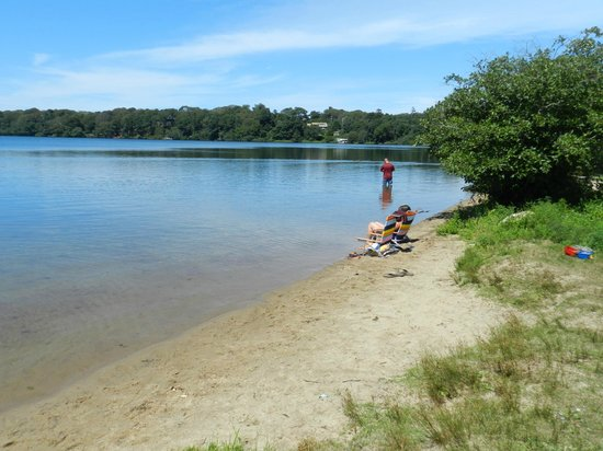 Cape Cod Rail Trail: Riding past Pleasant Lake