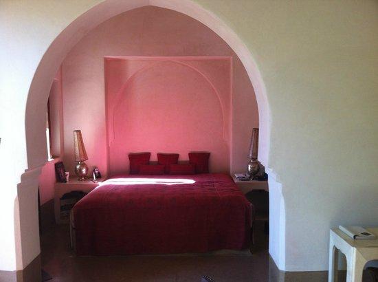Ksar Char-Bagh: vista del letto dal saloncino