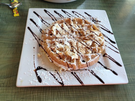 George's Place: tiramisu waffle w/ mascarpone cheese