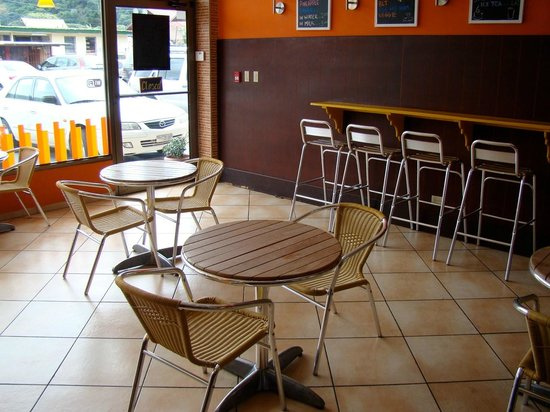 Seating area at La Ceiba Bakery