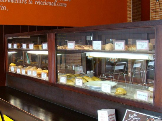 Pastry display case at La Ceiba Bakery