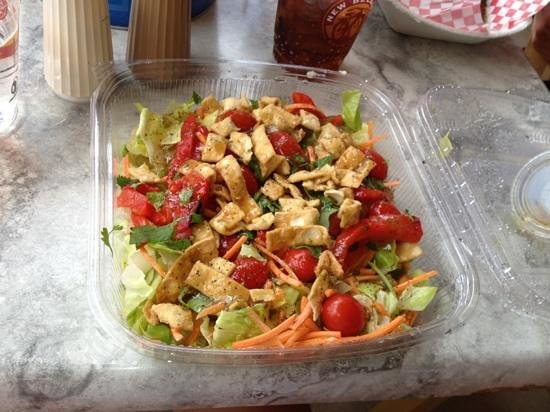 Fusion salad at Island Grill