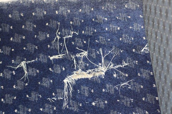 Travelodge Chippenham Leigh Delamere Eastbound: Frayed and torn carpet in room