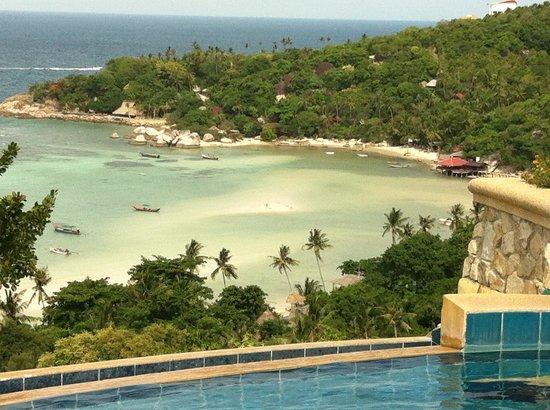 Ko Tao Resort - Paradise Zone : Udsigt fra swimmingpoolen