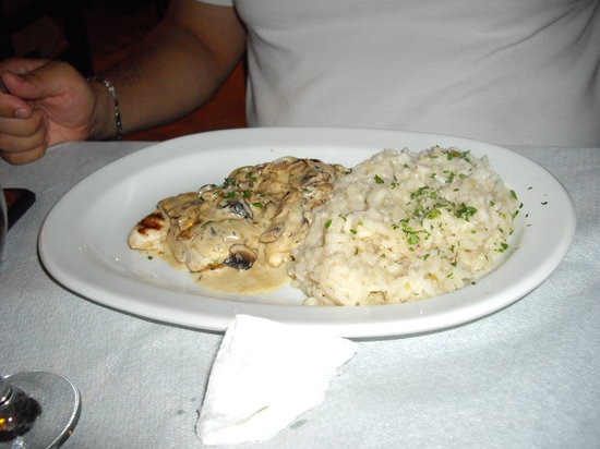 Galliano : chicken with brandy sause